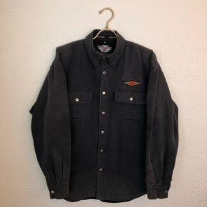 Harley Davidson Fleece Lined Button Down Shirt